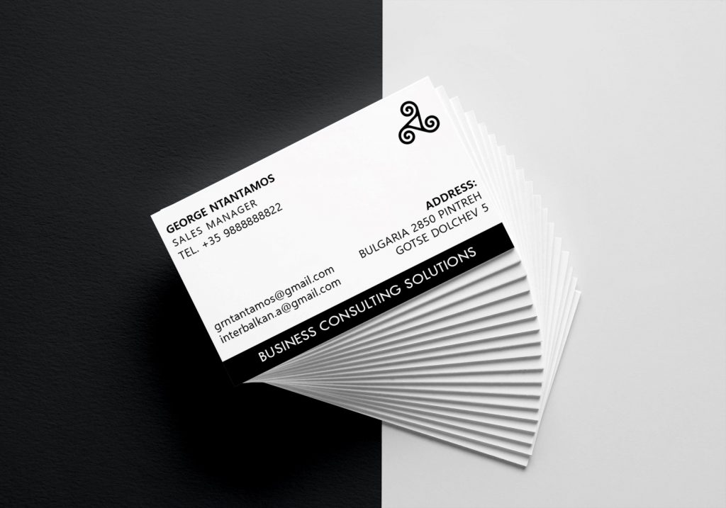business card sample in Cyprus